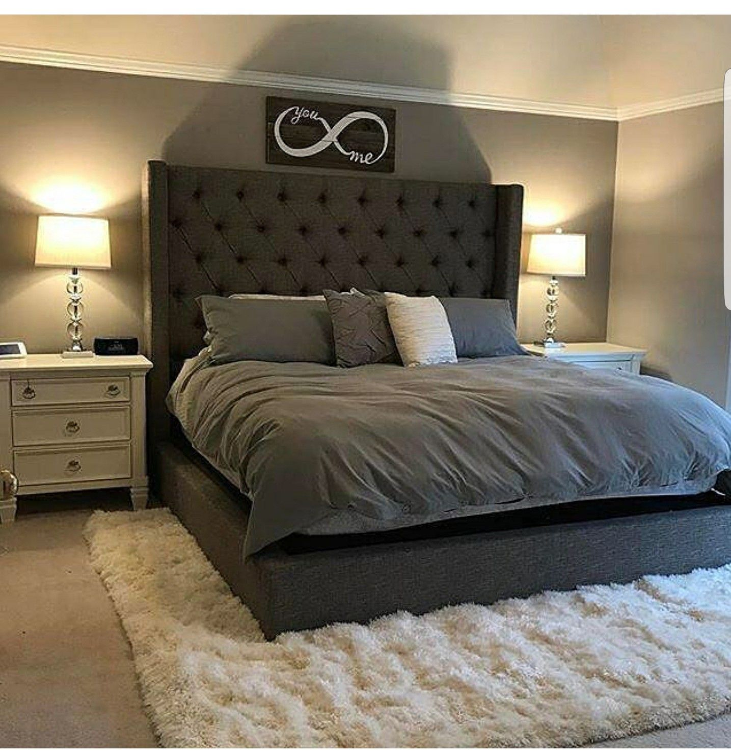 Thimaster Bedroom This Just Solidified To Me That I Don T Want That Gray Duvet For The Look I M Going For Classy Bedroom Master Bedrooms Decor Bedroom Design