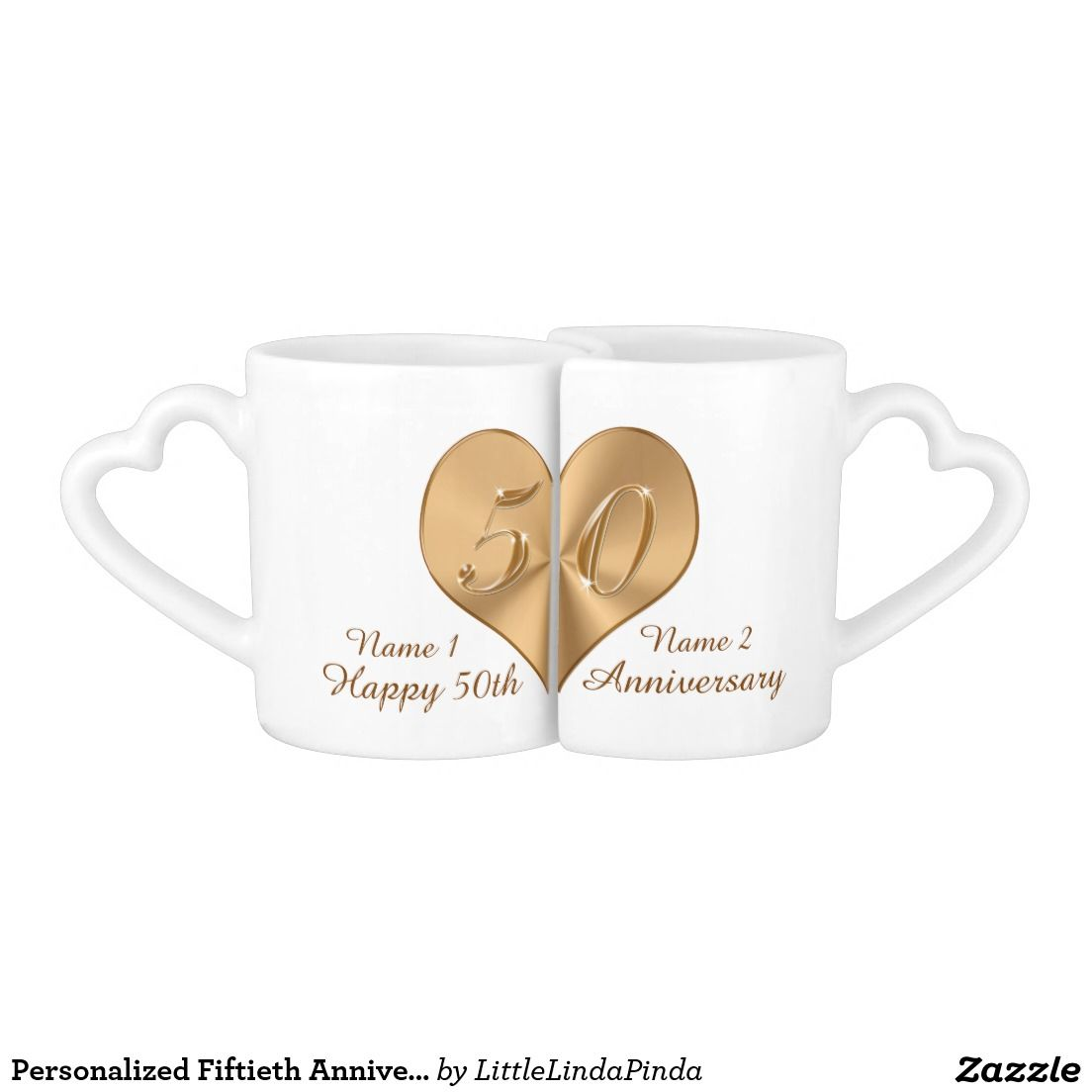 Personalized Fiftieth Anniversary Gift Lovers Mugs Zazzle Com In 2021 50th Anniversary Gifts Fiftieth Anniversary Gifts Anniversary Gift For Friends