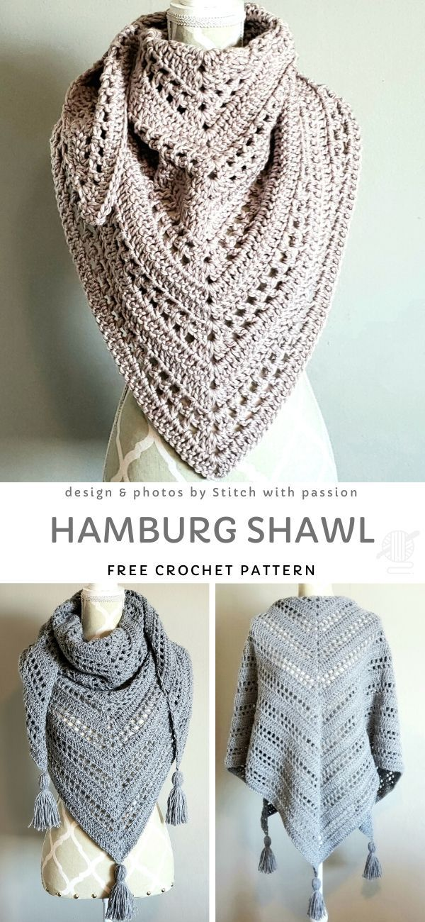 Hamburg Shawl Free Crochet Pattern
