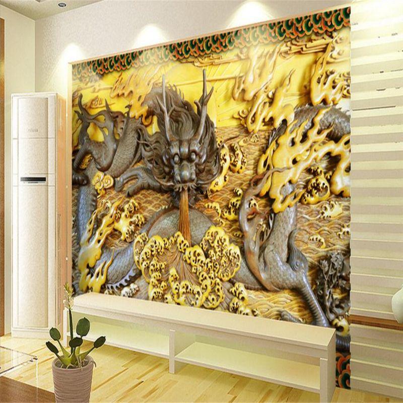 beibehang Stone dragon figure Custom papier peint Wall paper for
