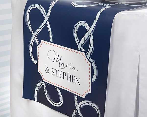 Personalized Table Runner Kate S Nautical Wedding Collection Large Nauticalwedding Tablerunner