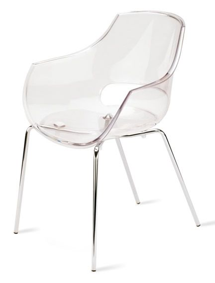 Perfect Papatya Opal Plastic Chair X2   Transparent   Clear   OPAL 37   Chairs,
