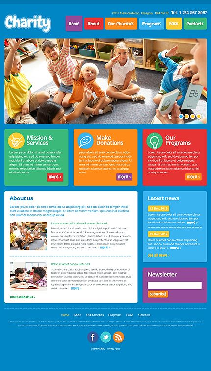 Template 41496 - Colorful Children & Kindergarten Responsive ...