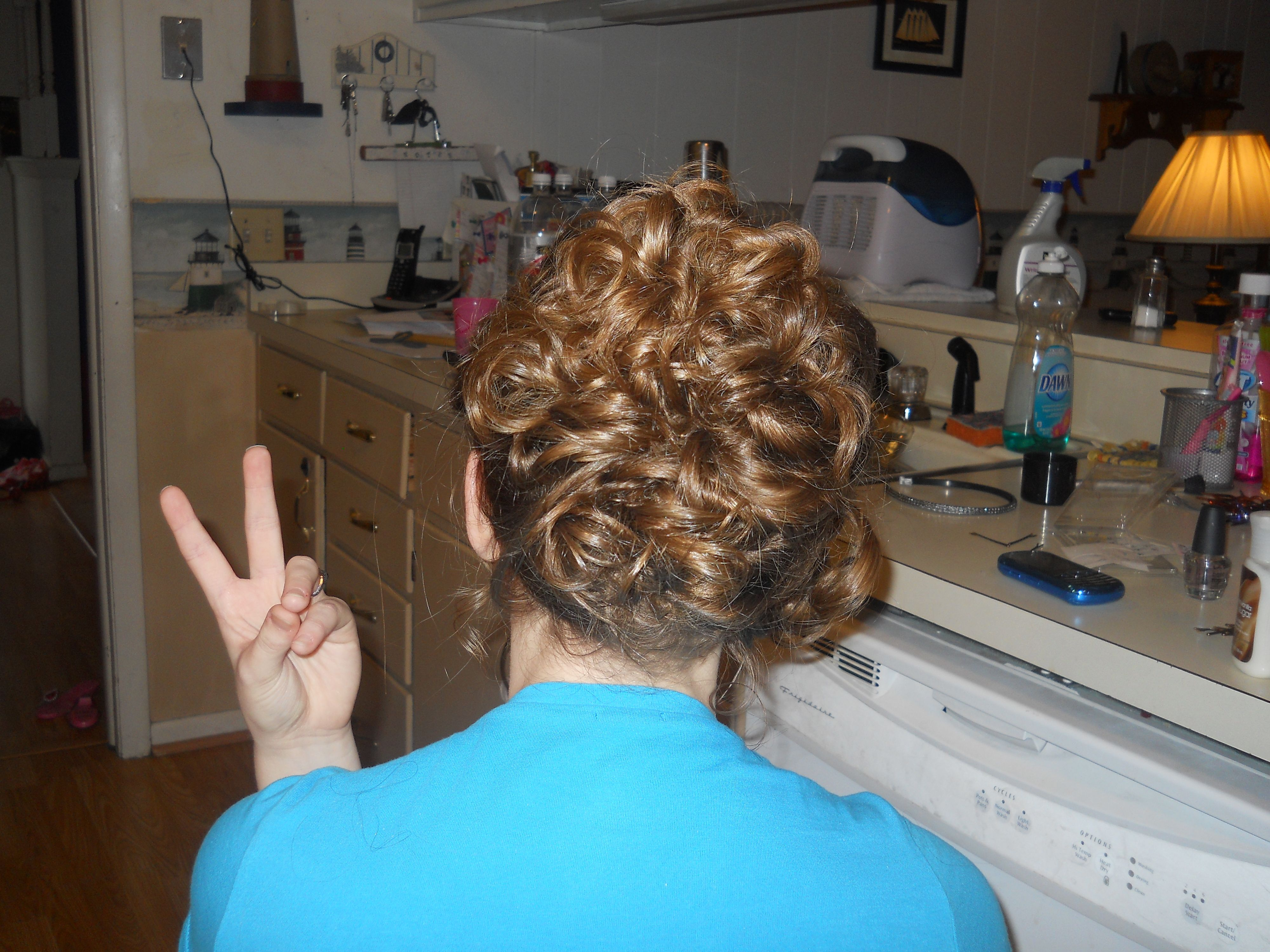 Moe's hair for homecoming this year:)