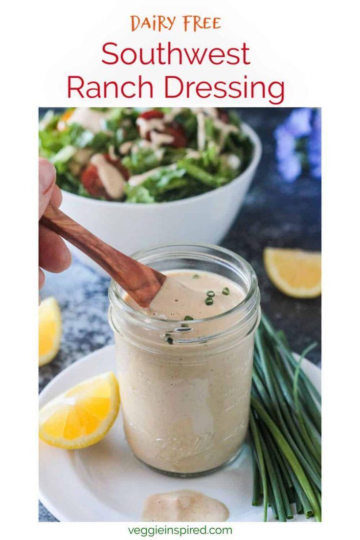 Southwest Vegan Ranch Dressing Recipe in 2020 Vegan