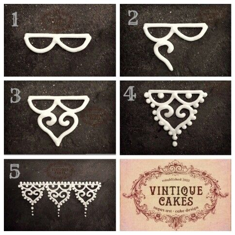 Vintique Cakes Piping A Vintage Lace Pattern