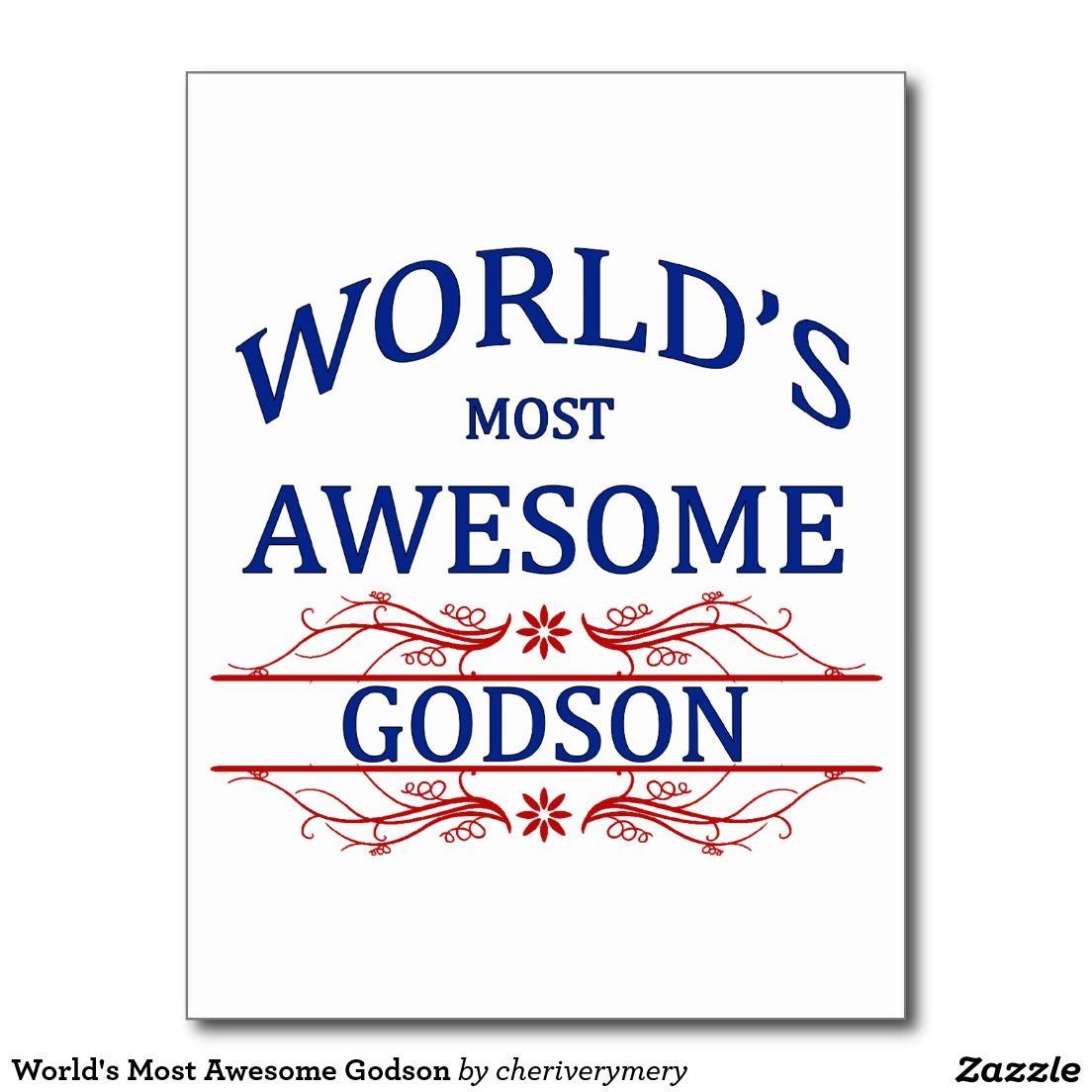 World's Most Awesome Godson Postcard
