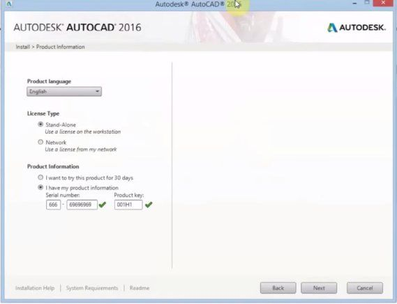 autocad 2013 serial number and product key free download