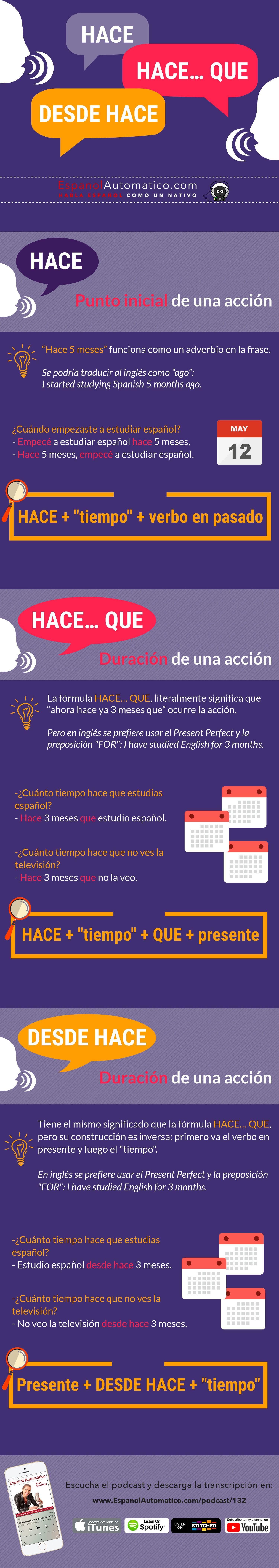 132 Hace Hace Que Y Desde Hace I Gramatica Espanola