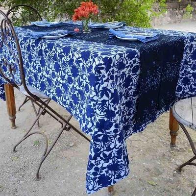 Table Linens Made Trade In 2020 Blue Tablecloth Table Cloth Boho Decor