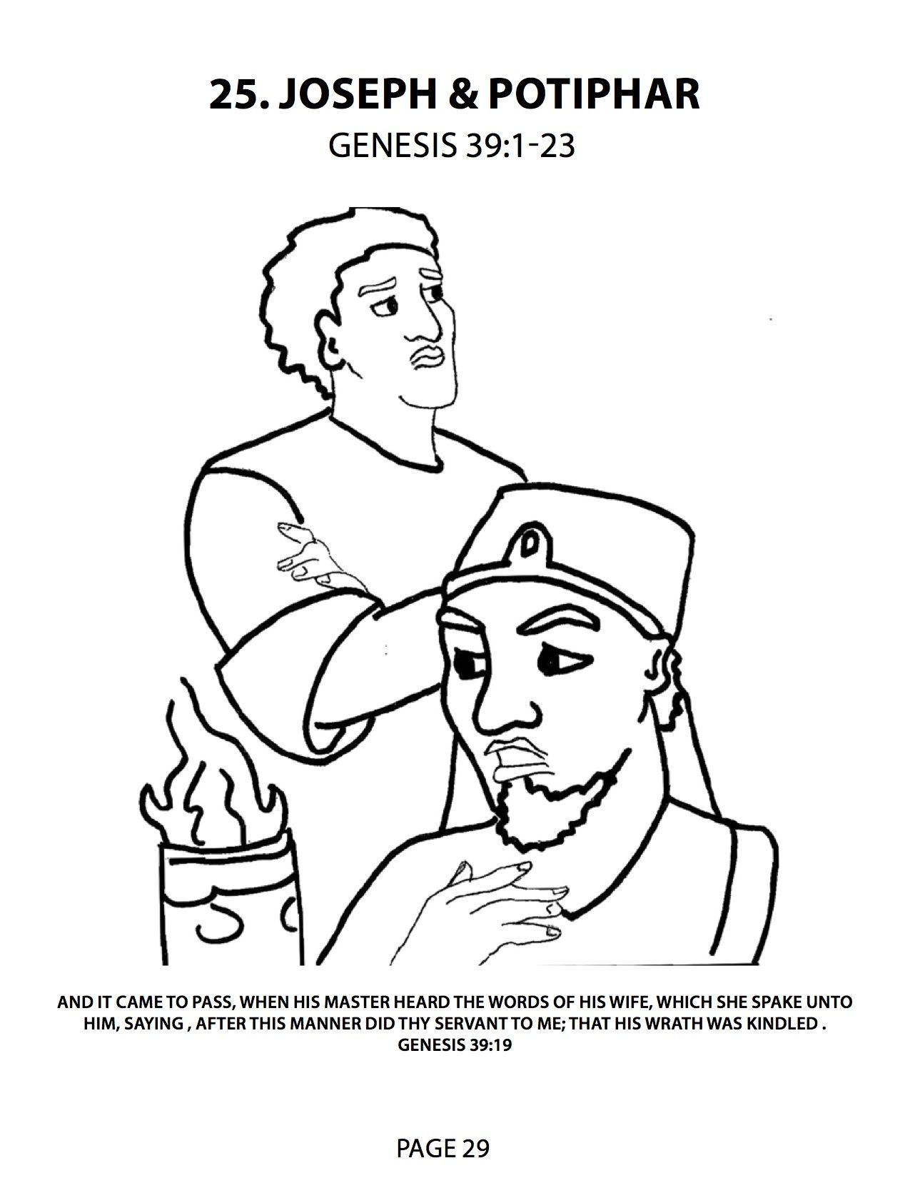 joseph and potiphar coloring pages - Google Search | Sunday School 5 ...