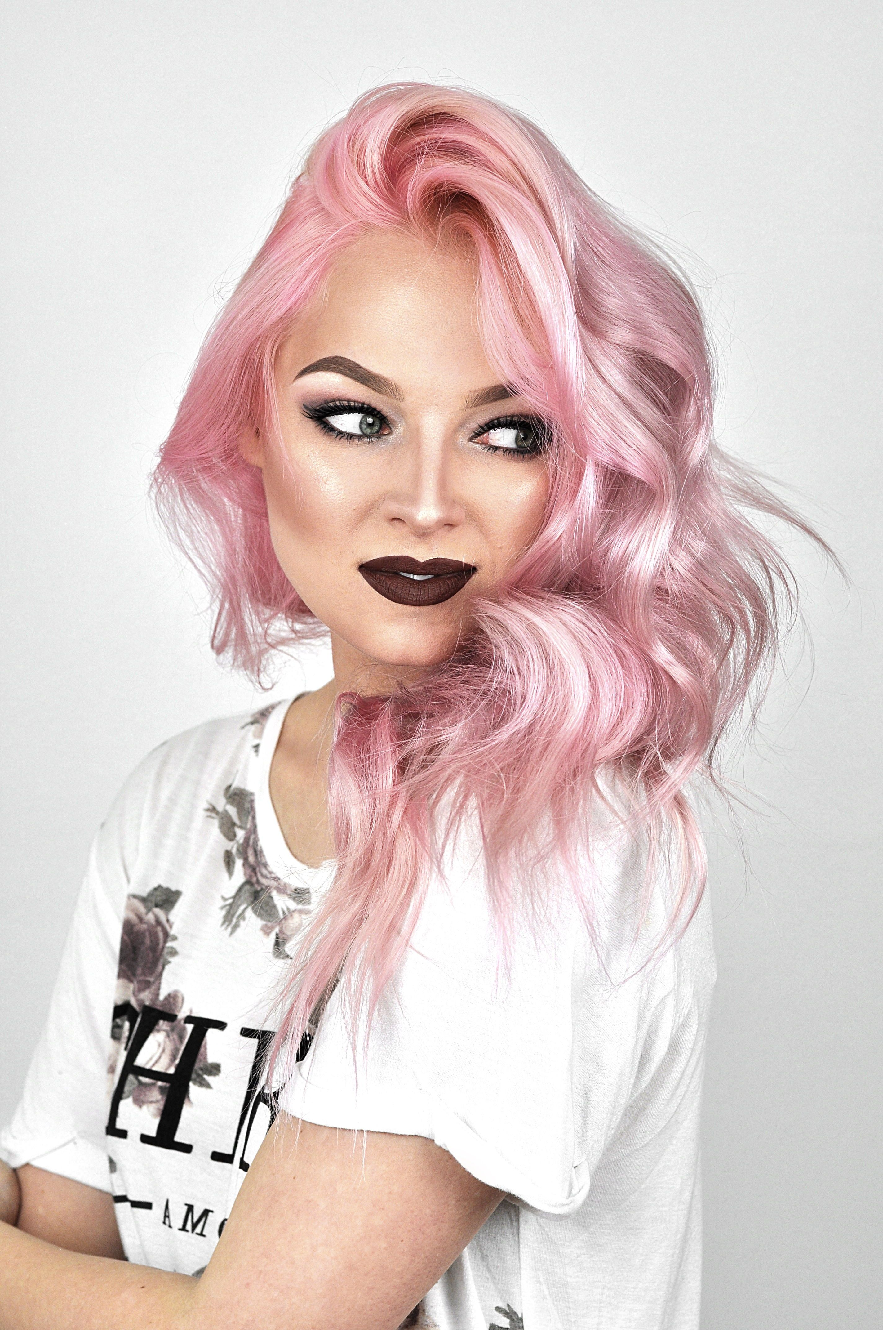 Overtone Rose Gold Review And Tutorial Mayalamode Hair Color Light Pink Hair Overtone Hair Color