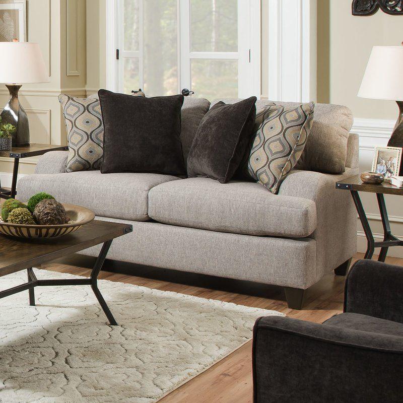 Hattiesburg Sterling Loveseat Love Seat Living Room Sets Furniture