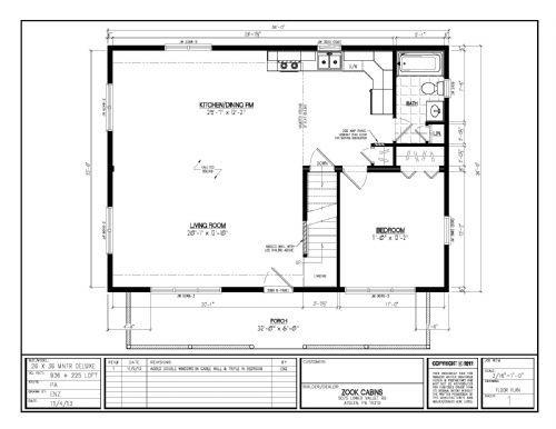 26 X 36 Deluxe Floor Plan Loft Floor Plans Prefab Log Cabins Prefab Log Homes
