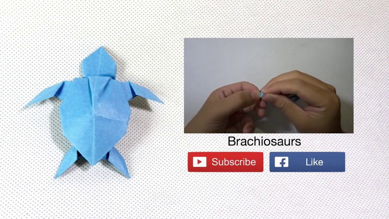 How to make: Origami Turtle - YouTube | 720x1280