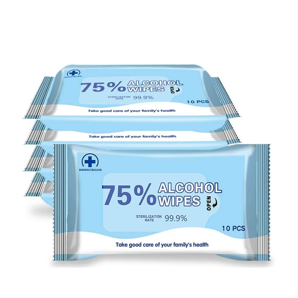 Alcohol Detergent Wipes 20 Packs Antibacterial Wipes Large Wet ...