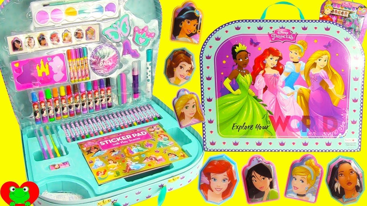 Disney Princess Mega Art Case Stickers Stamps Coloring Pages Kids Christmas Coloring Pages Art Case Grinch Coloring Pages