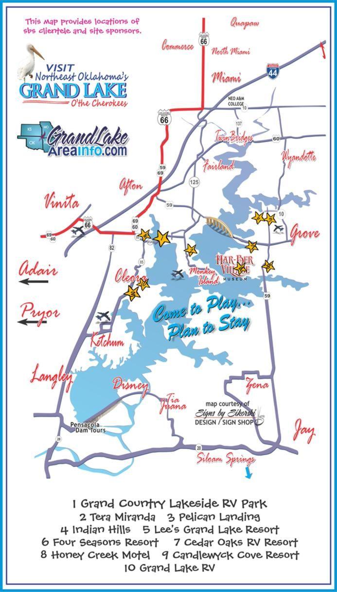 Accommodations Grand Lake Ok Cabins Rv Parks Motels Event Facilities Condos Resorts Grand Lake Grand Lake Oklahoma Oklahoma Vacation