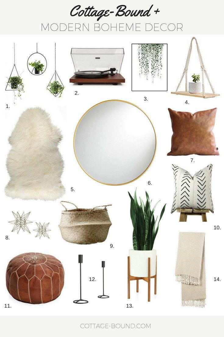 BUDGET FRIENDLY MODERN BOHEME DECOR #bohohomedecor