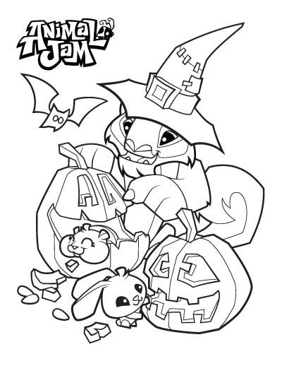 Animal Jam Coloring Pages The Daily Explorer Halloween