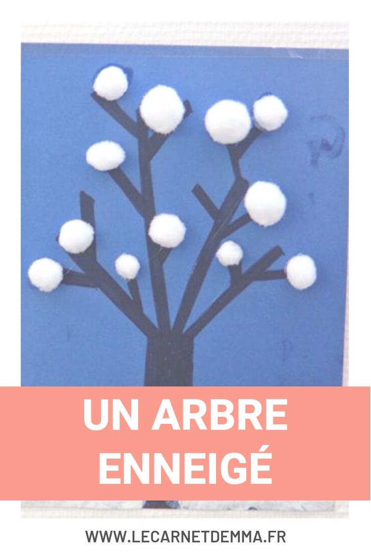 Un arbre enneigé - Activité manuelle hiver