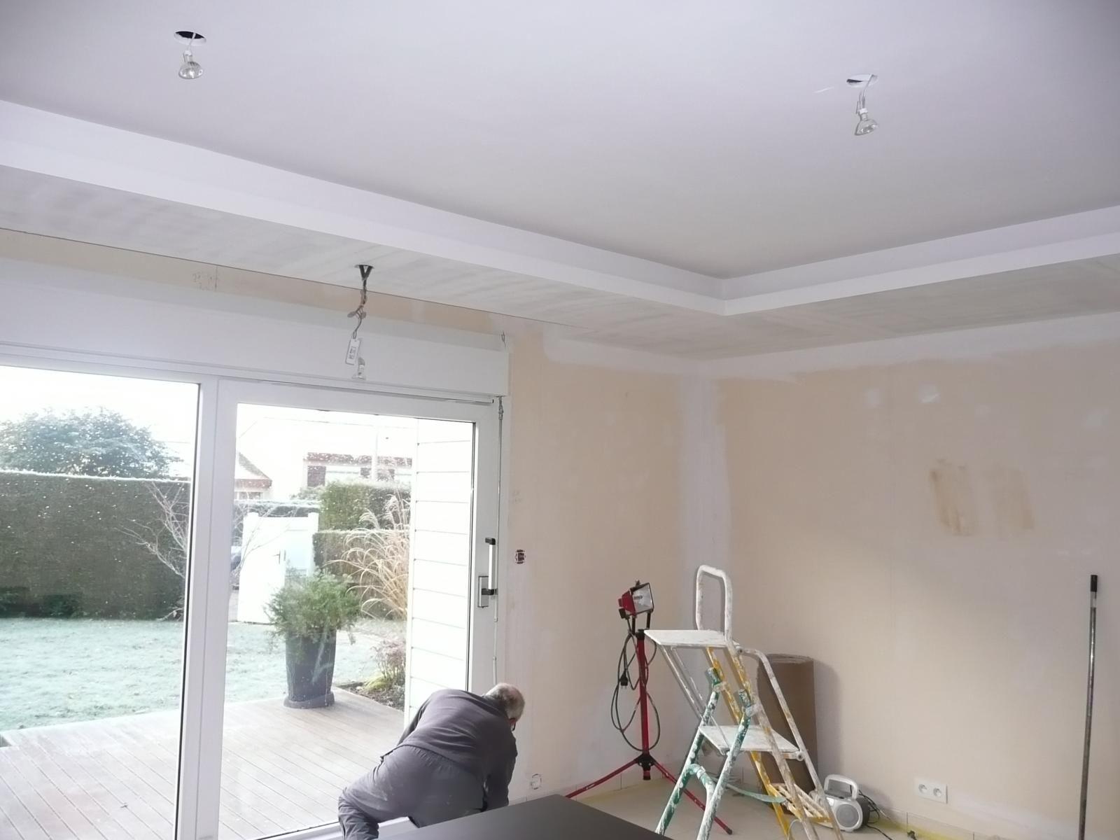 Plafond Et Coffrage De Volets Roulants Avec Faux Plafond Ba13
