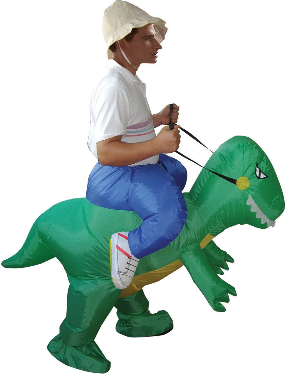 Funny Polyester Adult Dinosaur Inflatable Costume Air Blown Up Fat ...