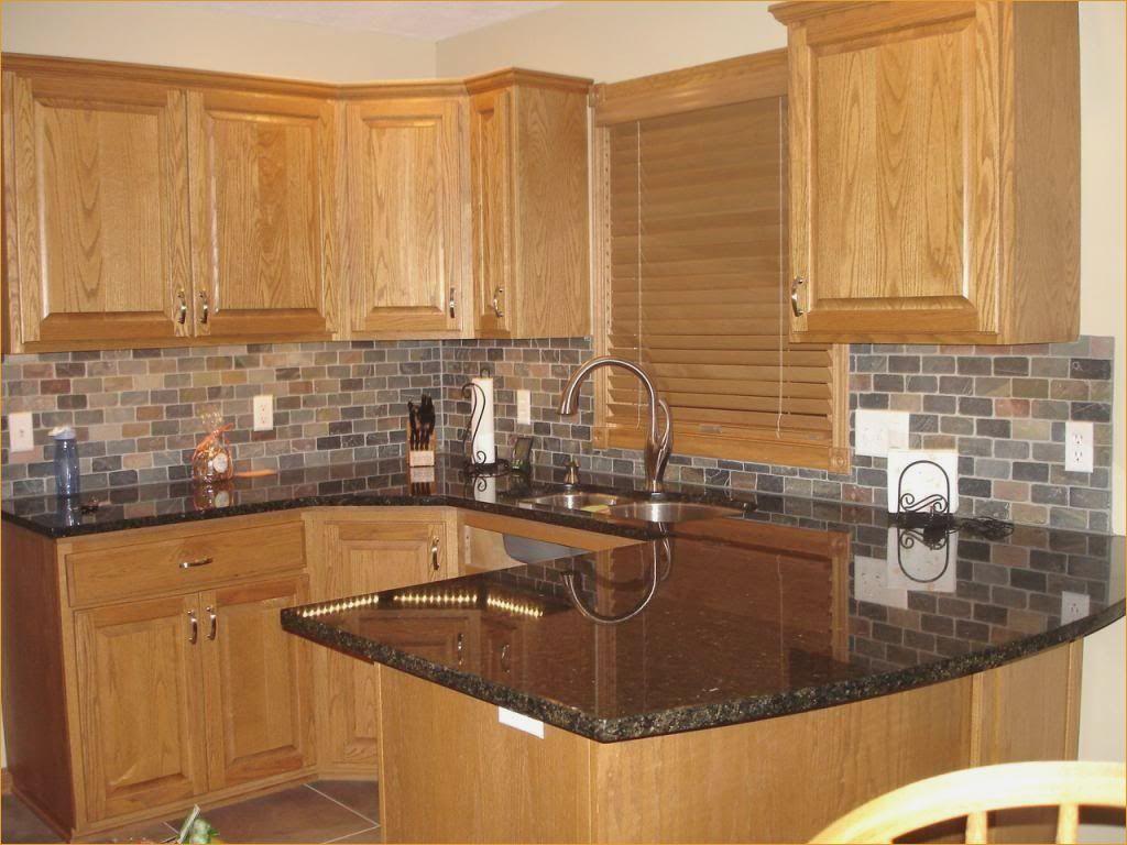 Image Result For Medium Oak Decorating Ideas Trendy Kitchen Backsplash Kitchen Tile Backsplash With Oak Oak Kitchen