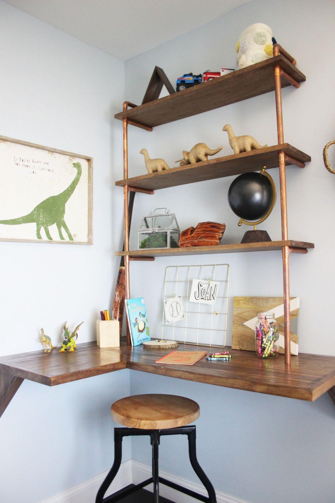 Diy Projects And Ideas Diy Corner Desk Floating Shelves