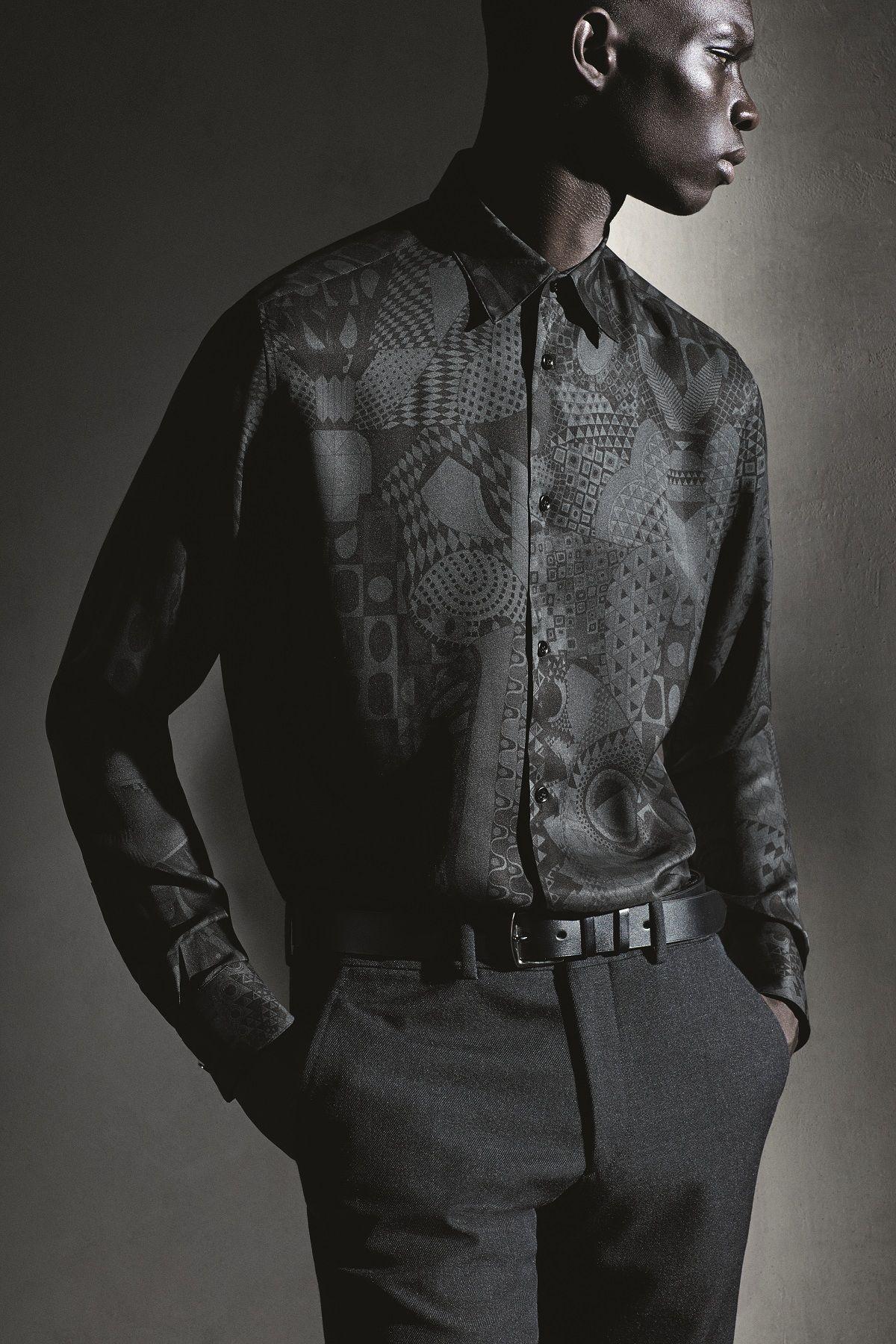 Hermès Fall-Winter 2014. Fitted shirt in English-green silk twill