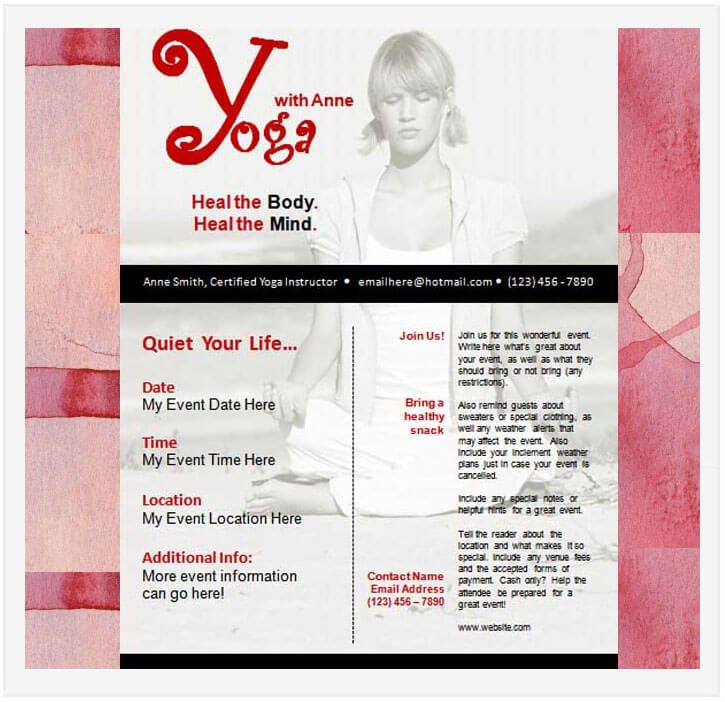 10 Free Yoga Flyer Templates In Psd Ai Eps Free Yoga Flyer
