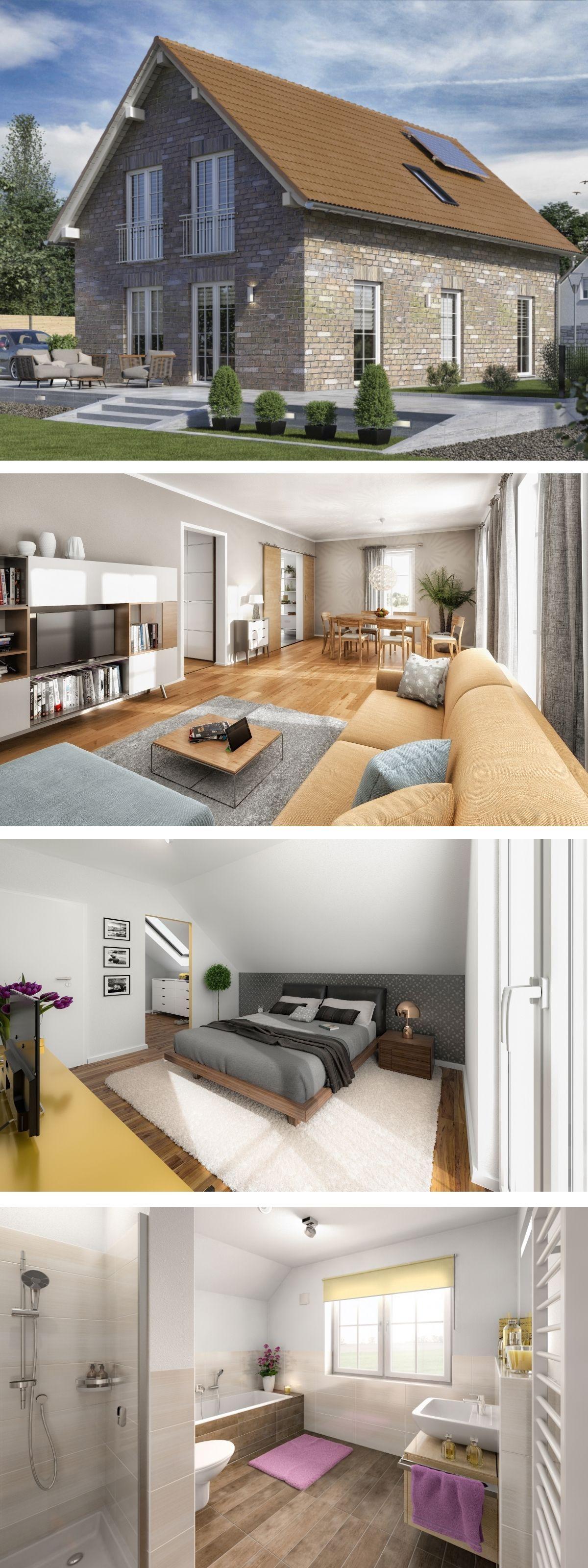 Wohnideen modernes einfamilienhaus neubau mit klinker fassade u satteldach