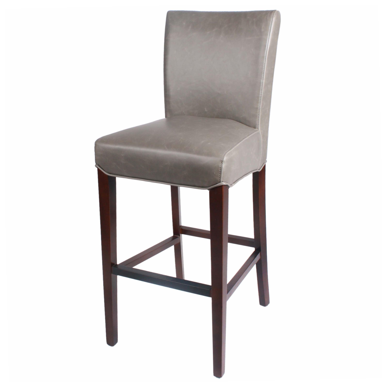Milton bonded leather bar stool black