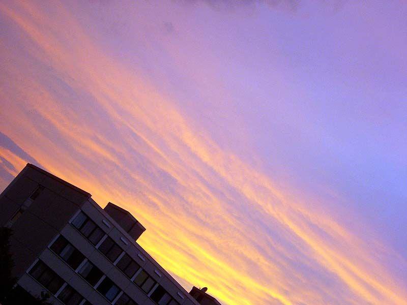 Der Sonnenuntergang.