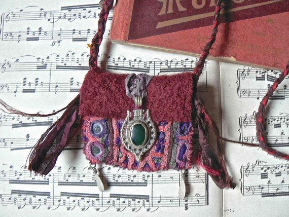 Reserved for Ginger Textile ethnic pouch  by frenchmanufacture