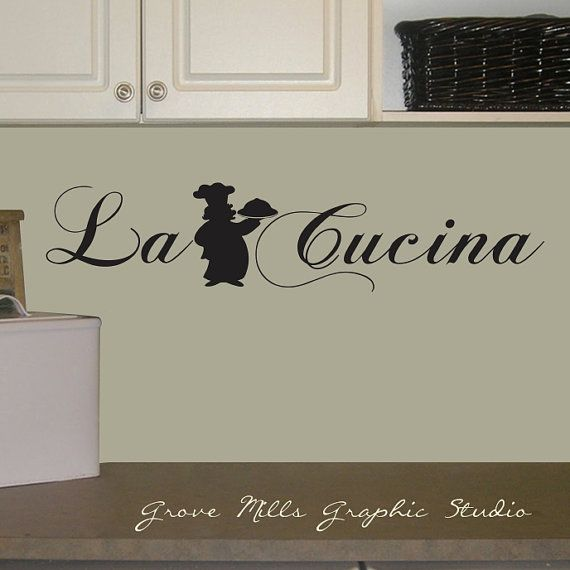 La Cucina Kitchen Wall Decal by GroveMillsGraphics on Etsy ...