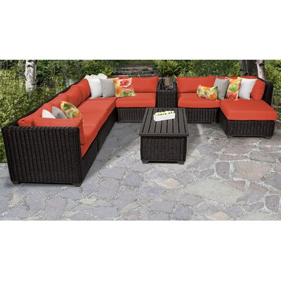 Sol 72 Outdoor Fairfield 10 Piece Rattan Sectional Seating Group with Cushions | Wayfair