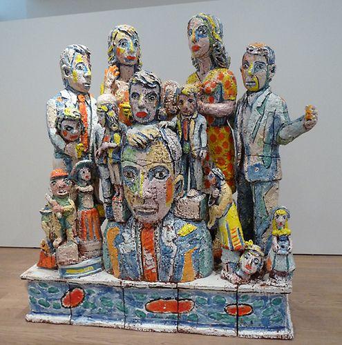Viola Frey Large ceramic sculpture