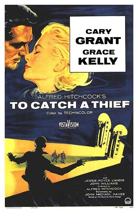 To Catch a Thief is a 1955 romantic thriller directed by Alfred Hitchcock and starring Cary Grant, Grace Kelly, Jessie Royce Landis and John Williams. The movie is set on the French Riviera, and was based on the 1952 novel of the same name by David Dodge. The screenplay was written by John Michael Hayes.