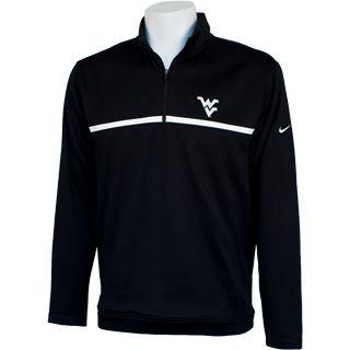 WVU Nike Golf Therma-Fit Quarter Zip in Black