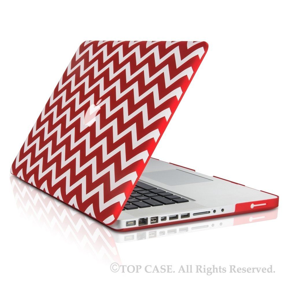 "Amazon.com: TopCase Chevron Series Purple Ultra Slim Light Weight Rubberized Hard Case Cover for Macbook Pro 15"" Model: A1286 - NOT for Retina Display - with TopCase Chevron Mouse Pad: Computers & Accessories"