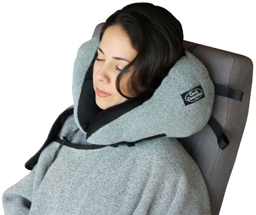 Attractive Matching Warm Blanket Included In Travel Pillow And
