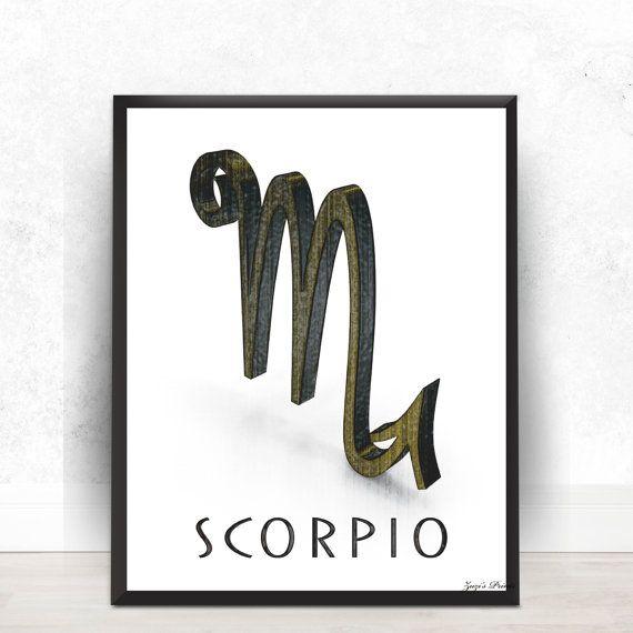 Scorpio Zodiac Symbol 8x10 Digital Printposter By Zuzisprints