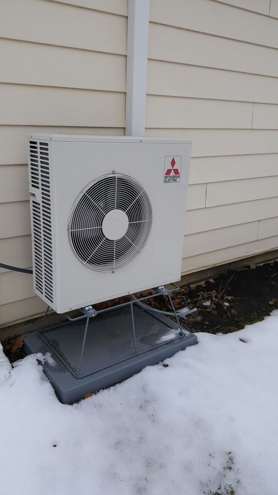 Mitsubishi MUZFH18NA HyperHeating heat pump installed by