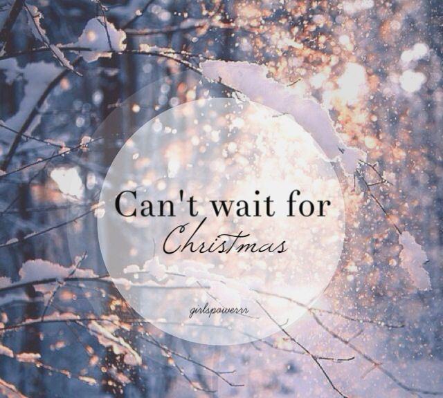 Christmas anticipation.