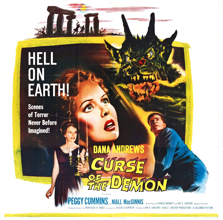 Night of the demon Dana Andrews vintage movie poster