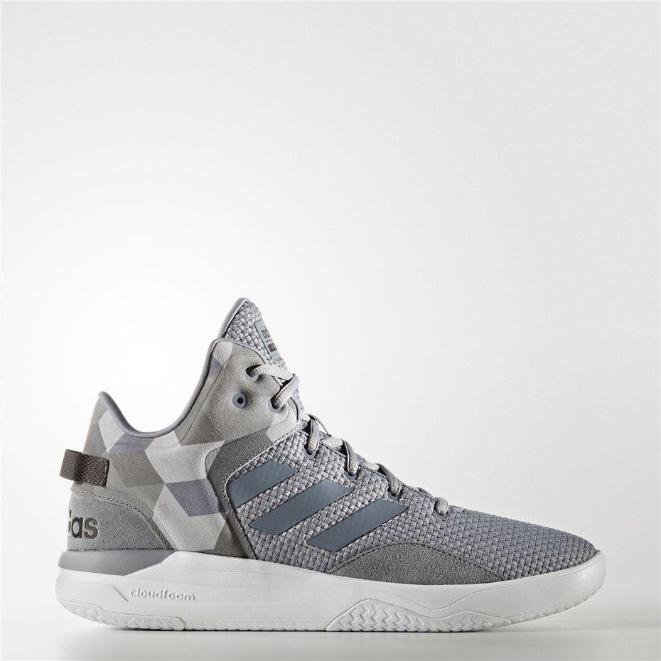Adidas cloudfoam revival a metà le scarpe (grigio / grigio / cuore nero
