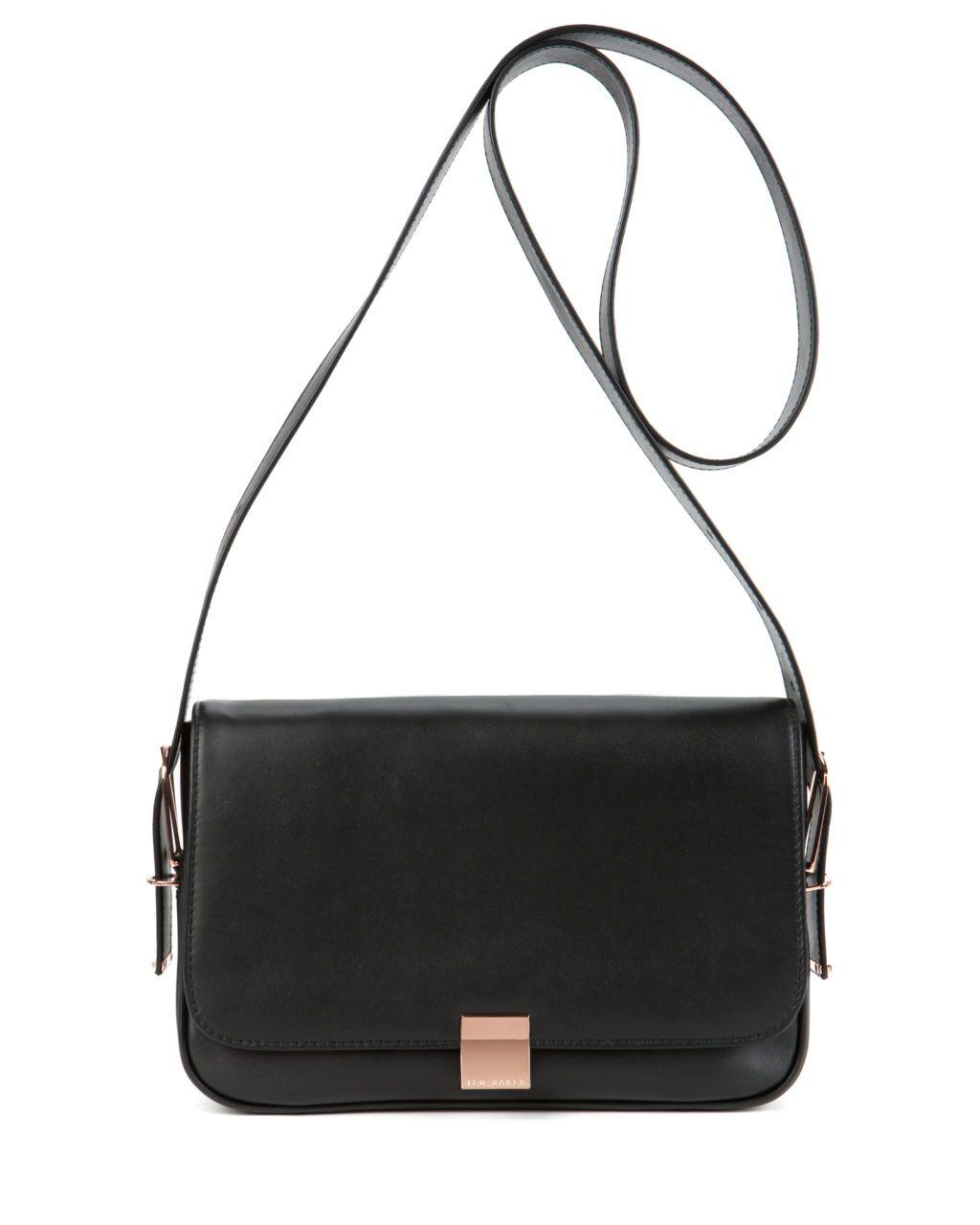 Leather Sling Bag Black Bags Ted Baker Uk Across Body Bag