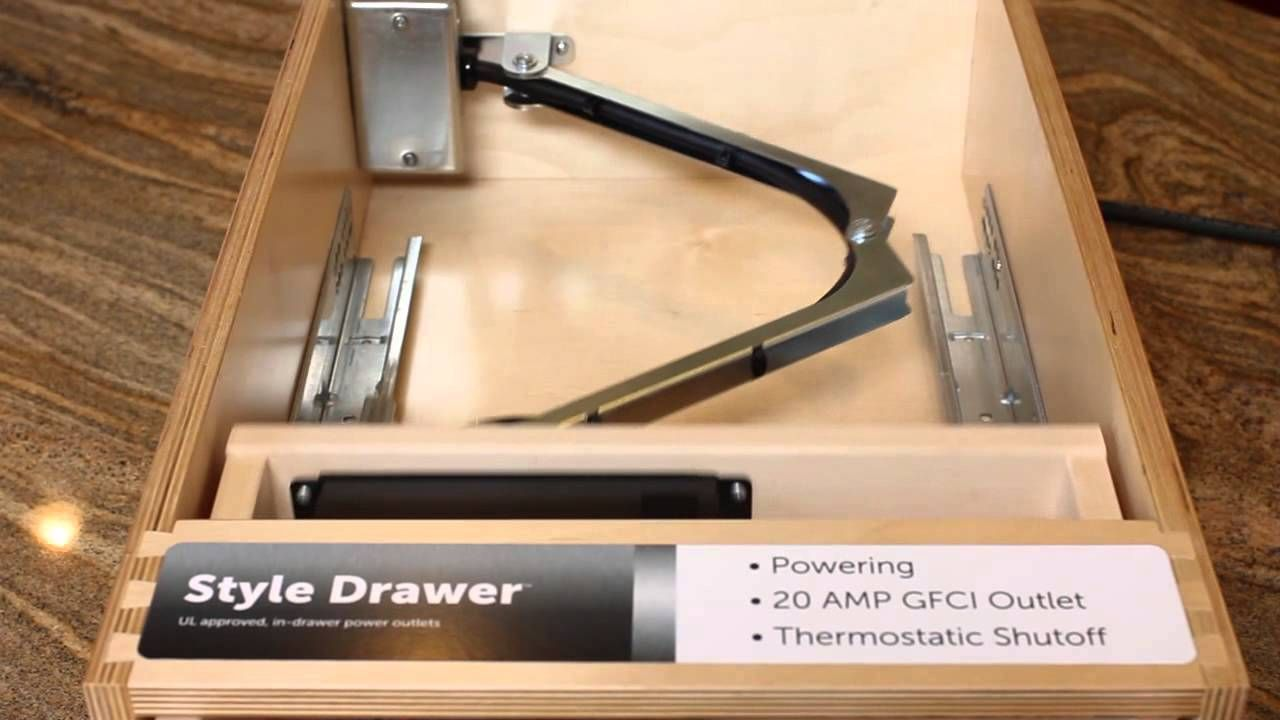 Docking Drawer Style Drawer Demonstration Power Outlet Drawers Electrical Outlets