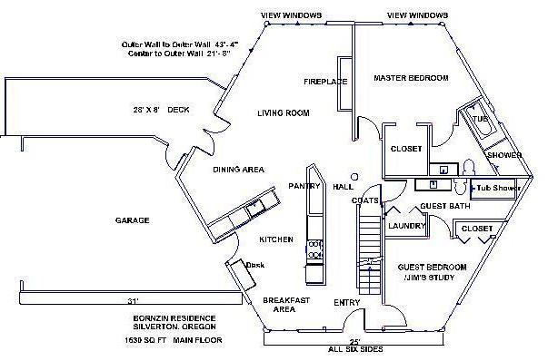 Hexagon Shaped Homes Hexagon DIY Home Plans Database